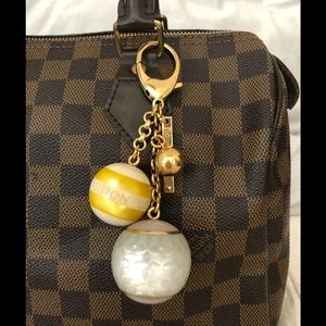 Louis Vuitton Fleur Ball Bag Chain Gold